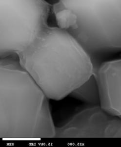 SEM image (scanning electron microscope), zoom 25.000
